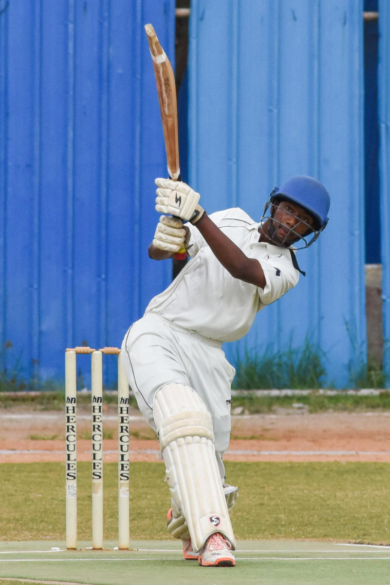 Jay Borah in action during the Cottonian Shield. DH photo/ S K Dinesh