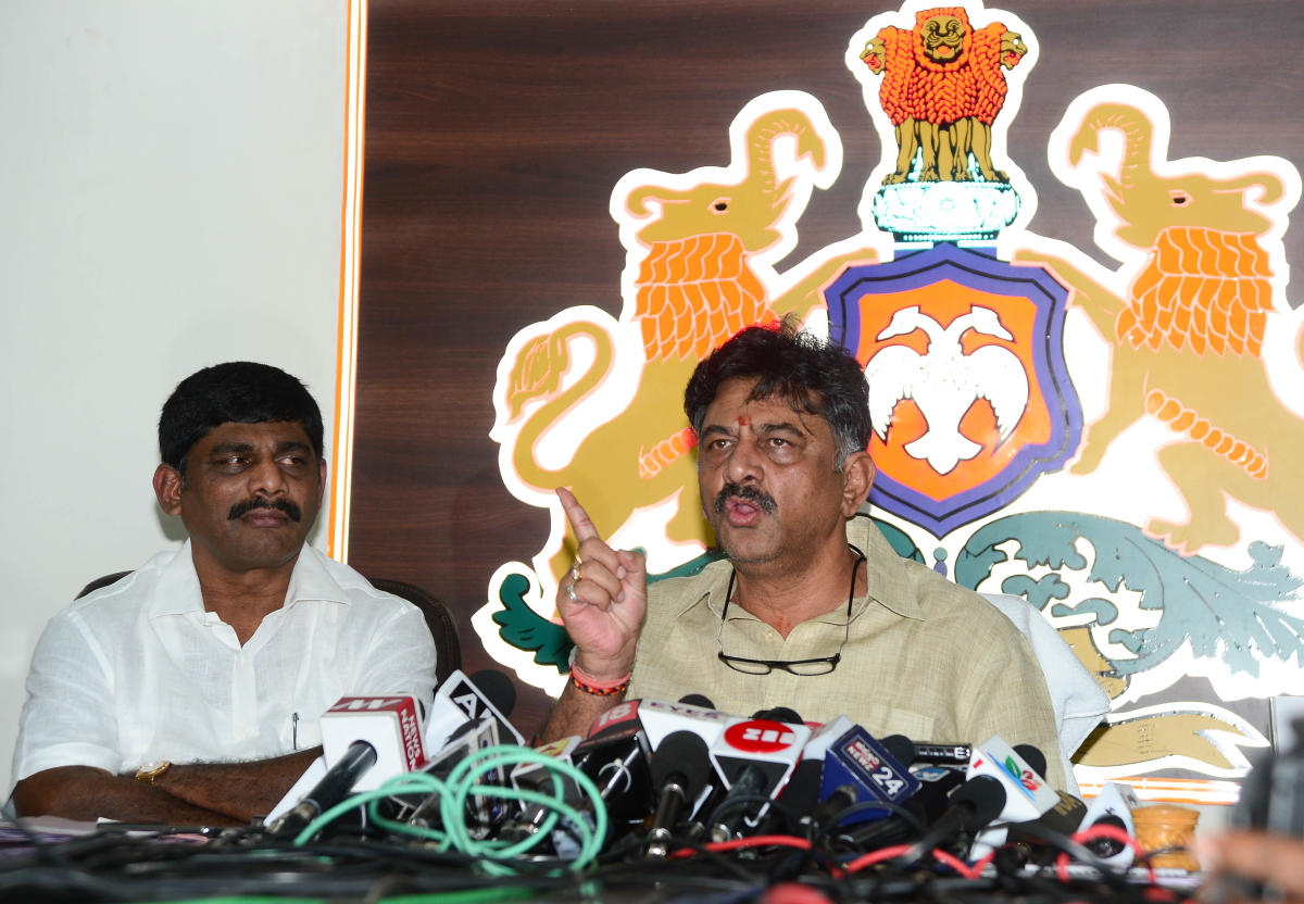 Water Resources Minister DK Shivakumar. DH file photo