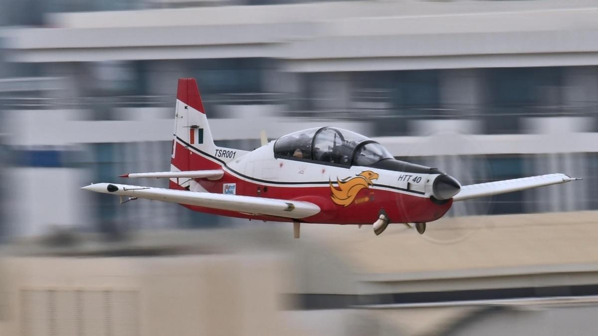 An HTT 40 aircraft.