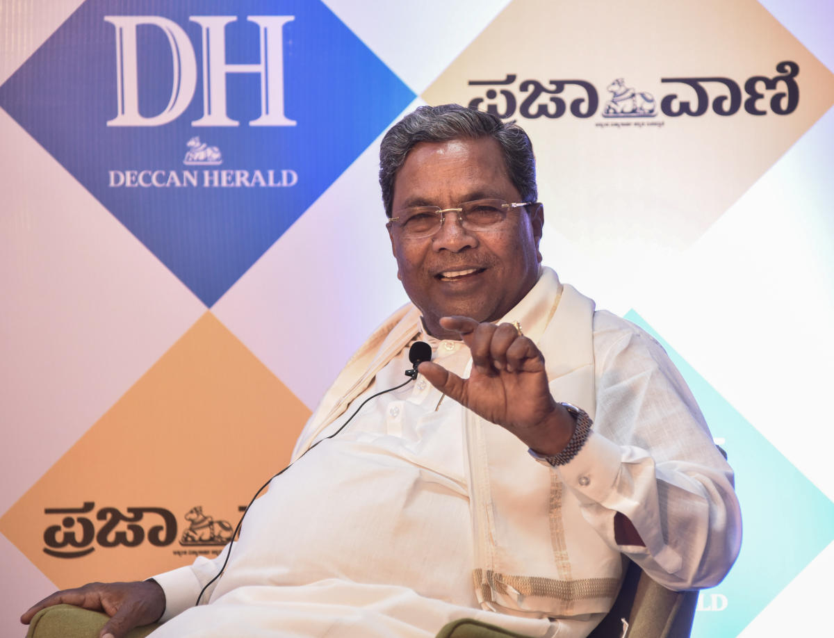 Former chief minister Siddaramaiah at an interaction with DH in Bengaluru on Wednesday.DH Photo/S K Dinesh