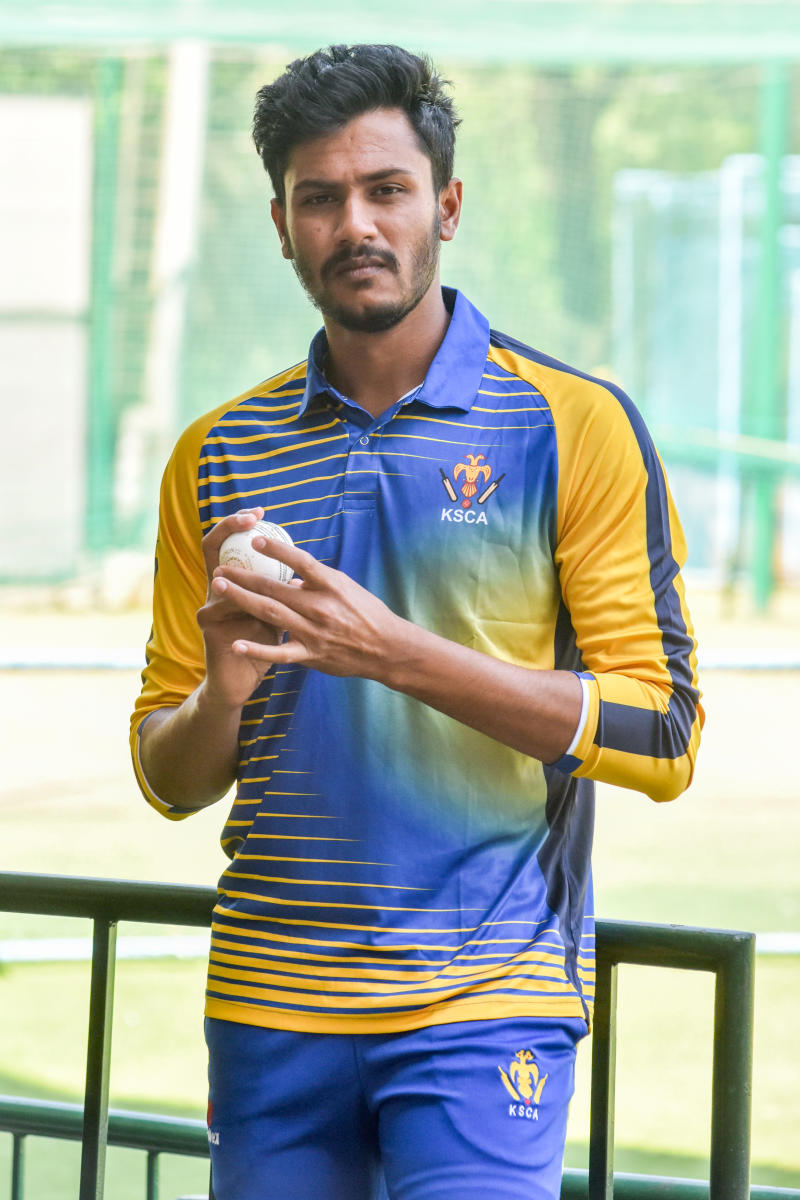 bright beginning Karnataka medium-pacer V Koushik says he will be focusing on improving his fitness as he looks to fine-tune his craft. DH photo/ S K Dinesh