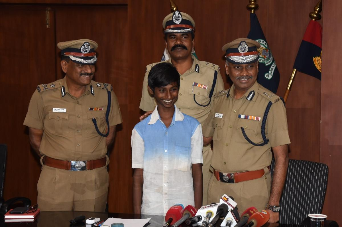 On Thursday, when the Chennai Police felicitated the boy, he rued the fact at 8.30 pm on a bustling street in Chennai, none came to the woman's rescue.