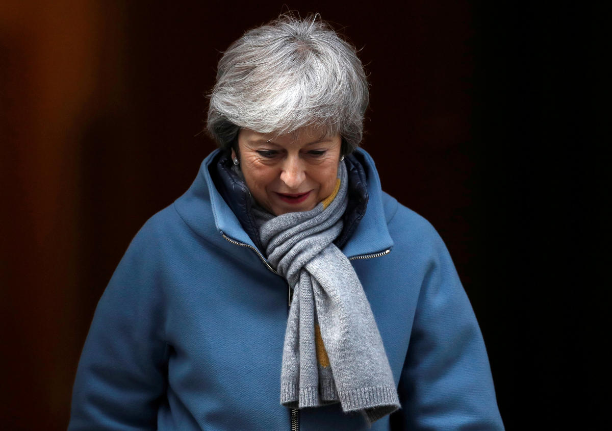 Britain's Prime Minister Theresa May is seen outside Downing Street in London. Reuters file photo