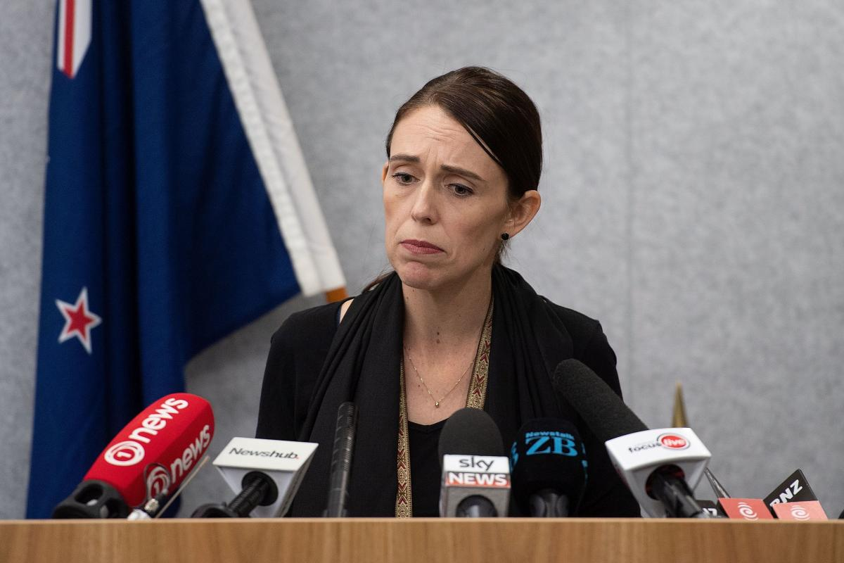 New Zealand Prime Minister Jacinda Ardern speaks to the media during a press conference at the Justice Precinct in Christchurch on March 16, 2019. - A right-wing extremist who filmed himself rampaging through two mosques in the quiet New Zealand city of C
