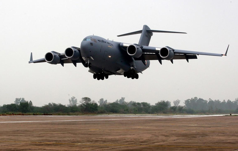 The IAF C-17 will take-off from Hindon airbase near Delhi once the relief material is loaded into the aircraft.