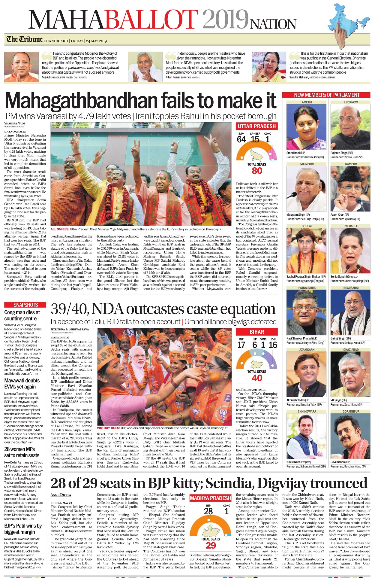 Election Results 2019: Newspapers from around the world react to