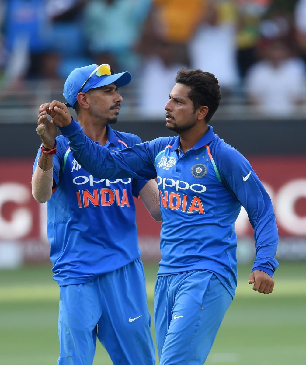 Yuzvendra Chahal (left) said regular flow of good bowlers has helped India dominate. AFP