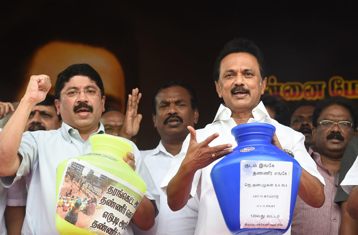 Will fill TN jails if water crisis not addressed: DMK