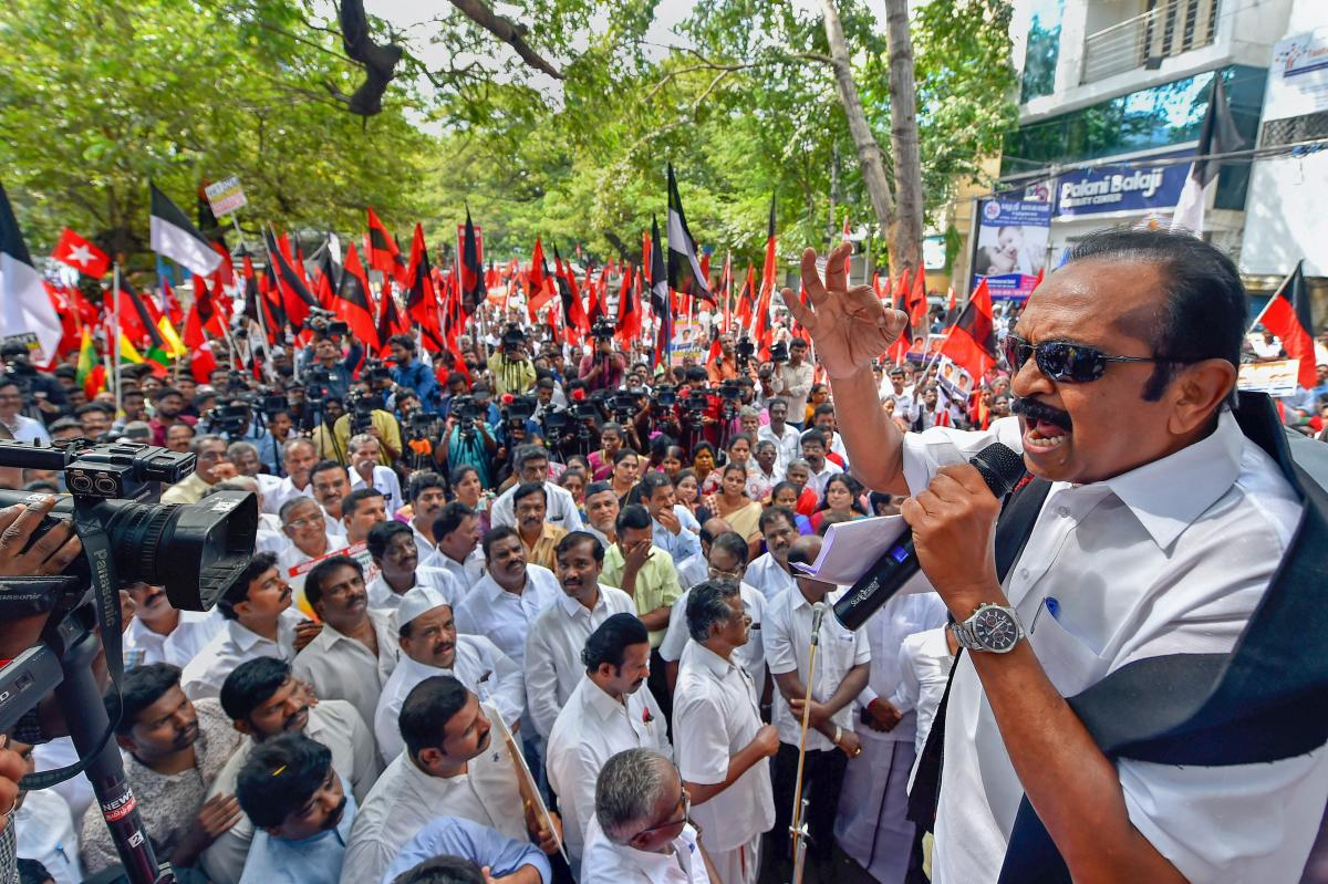 MDMK chief Vaiko awarded 1-year jail in sedition case | Deccan Herald