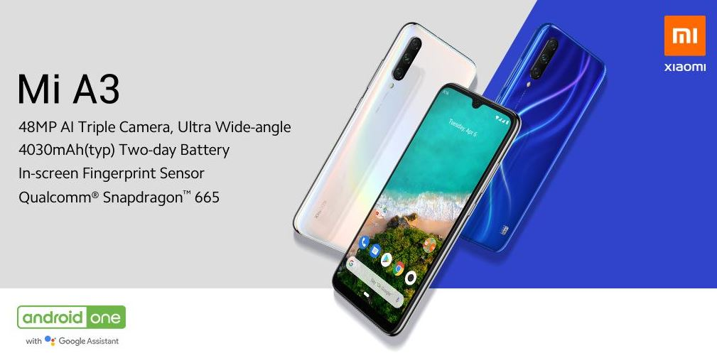 Xiaomi Mi A3 Android One With Triple Camera Launched