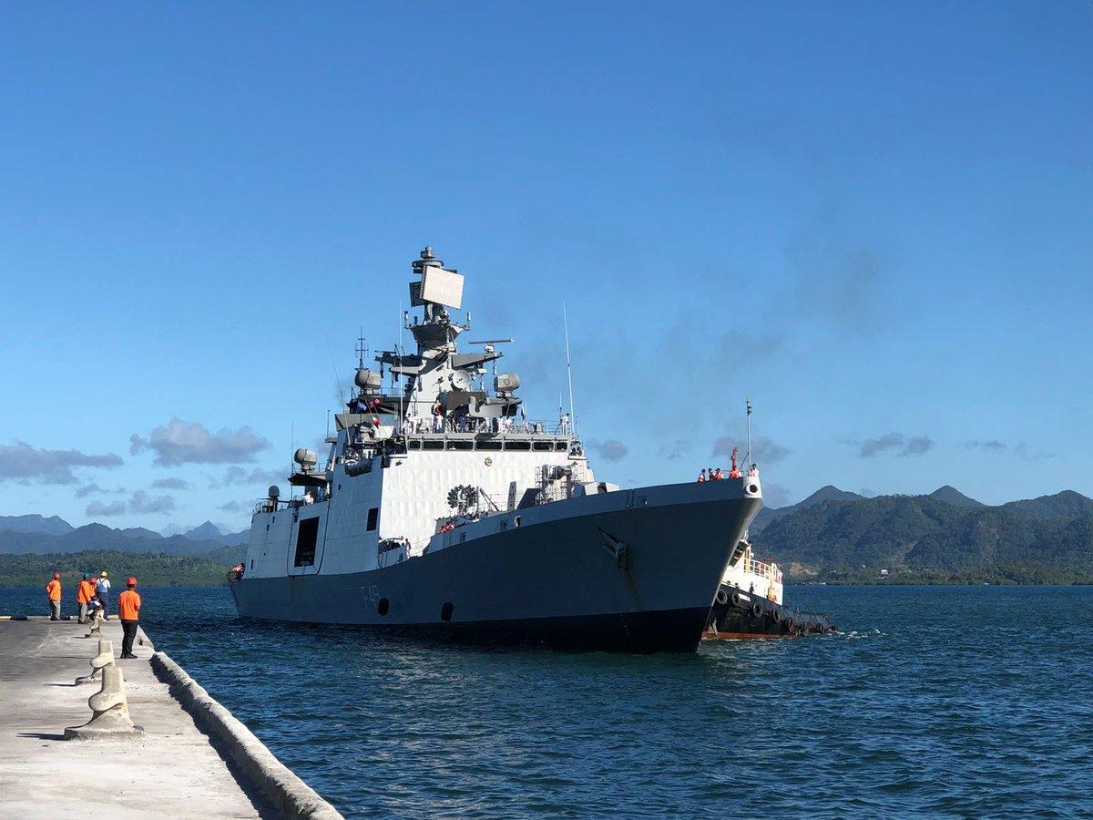 INS Sahyadri in Fiji