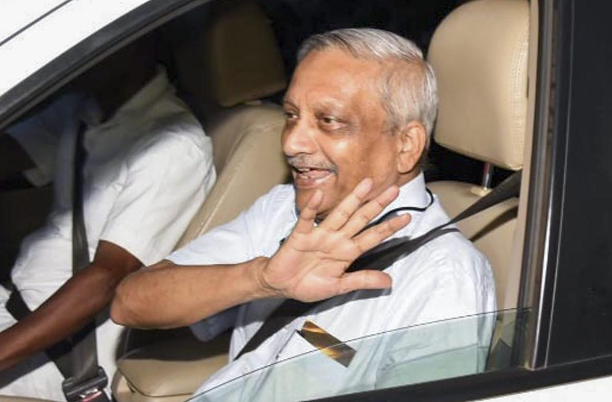 Goa Chief Minister Manohar Parrikar, who was in the United States for treatment since March, after his arrival at Panaji airport, Goa on Thursday. PTI Photo