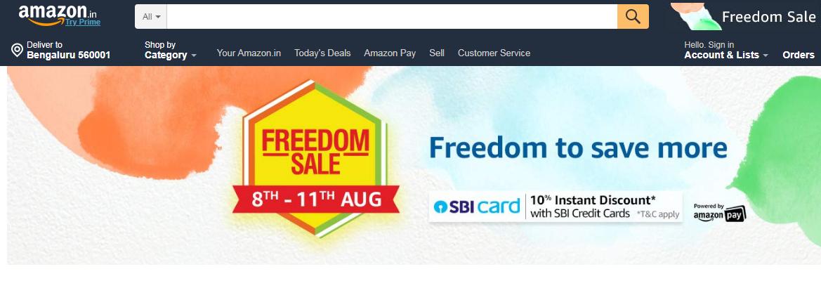 Amazon Freedom Sale 2019: Get sneak peek on best deals