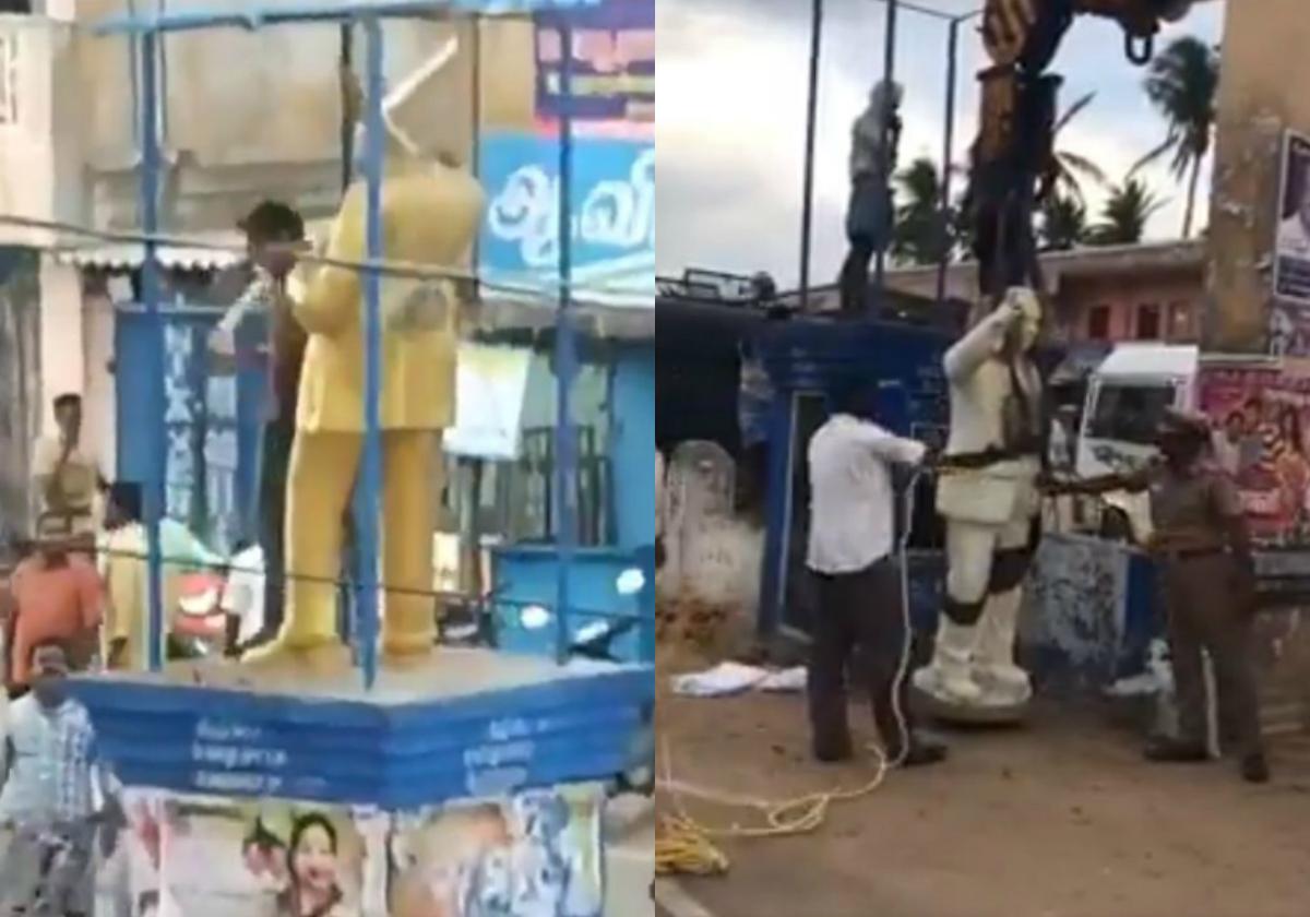 Ambedkar statue vandalized, 50 held in TNs Vedaranyam