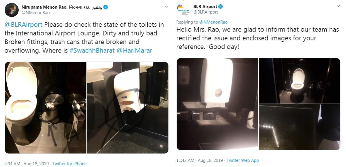 Ex-foreign secy slams KIA toilets, forces swift action