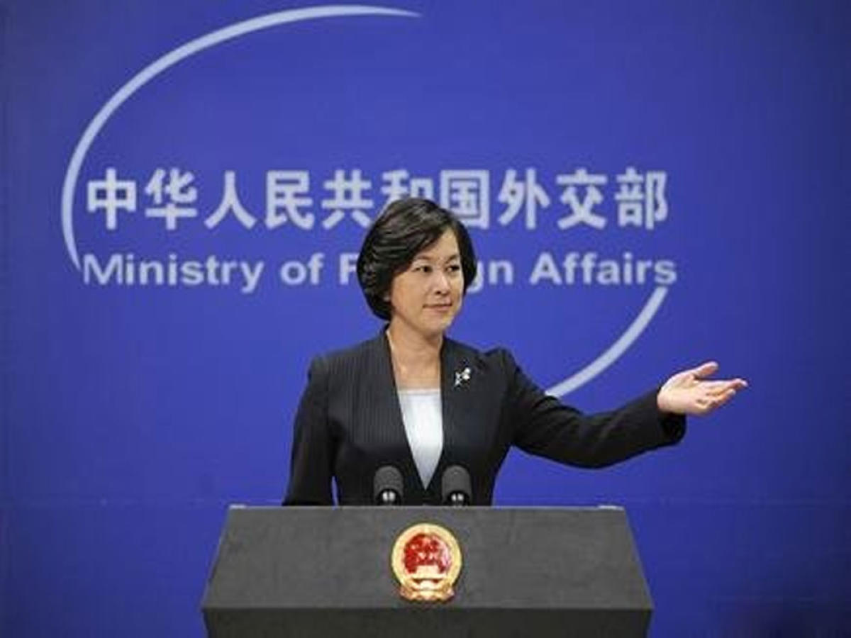Chinese Foreign Ministry spokesperson Hua Chunying, image courtesy Twitter