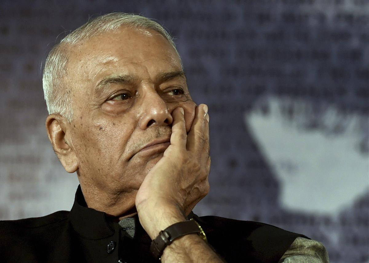 Former Union minister Yashwant Sinha announced that he was quitting the BJP and party politics. PTI File Photo