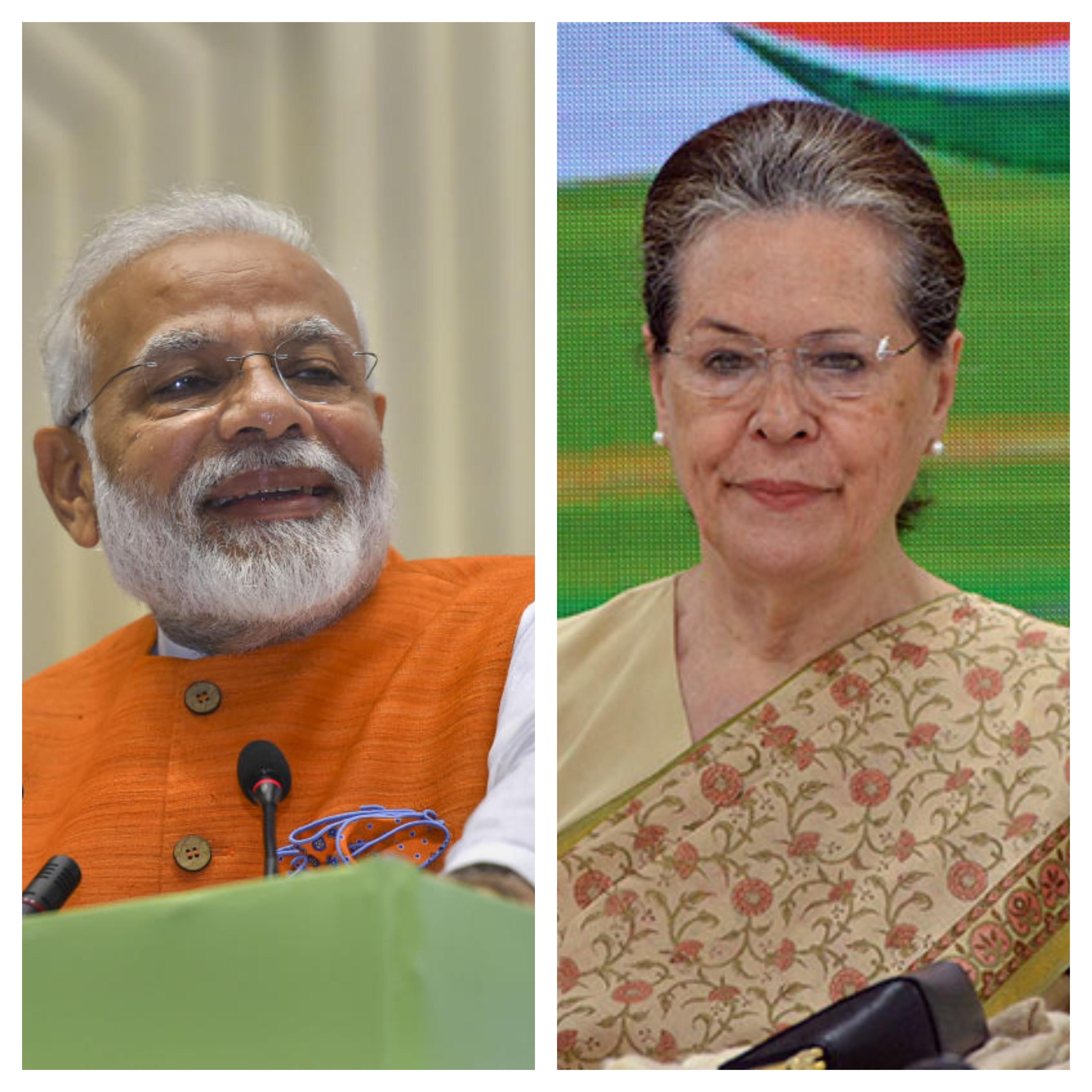 Cong president Sonia Gandhi greets PM Modi on birthday