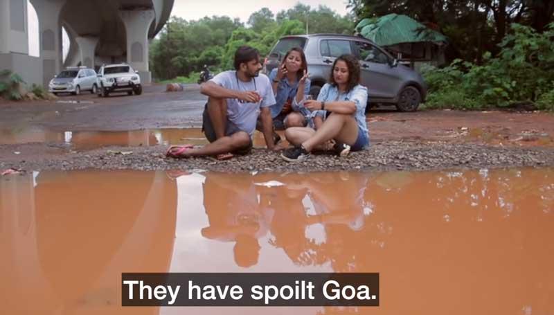 Viral music video makes potholes 'rock' in Goa