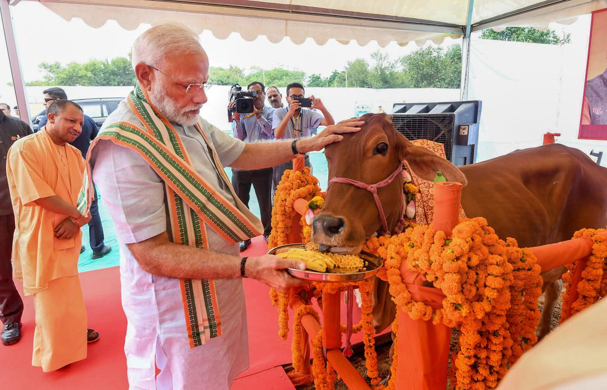 PM's speech shocks, not cow and Om
