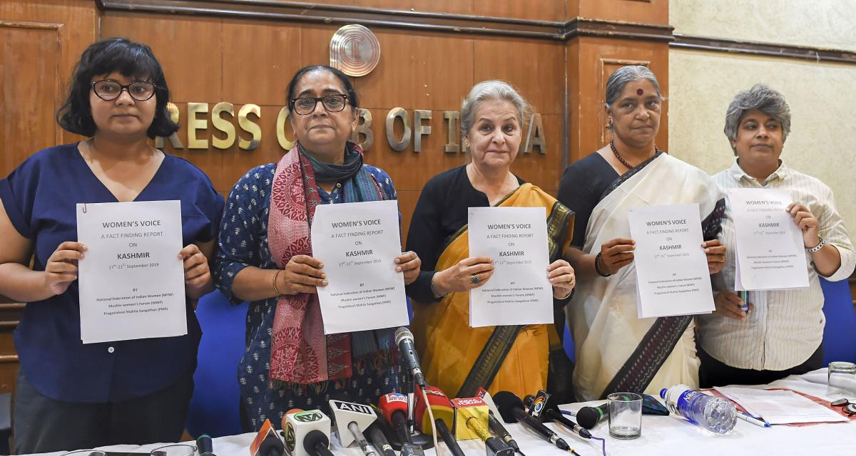 Image result for Women's Voice releases Fact-finding Report on Kashmir