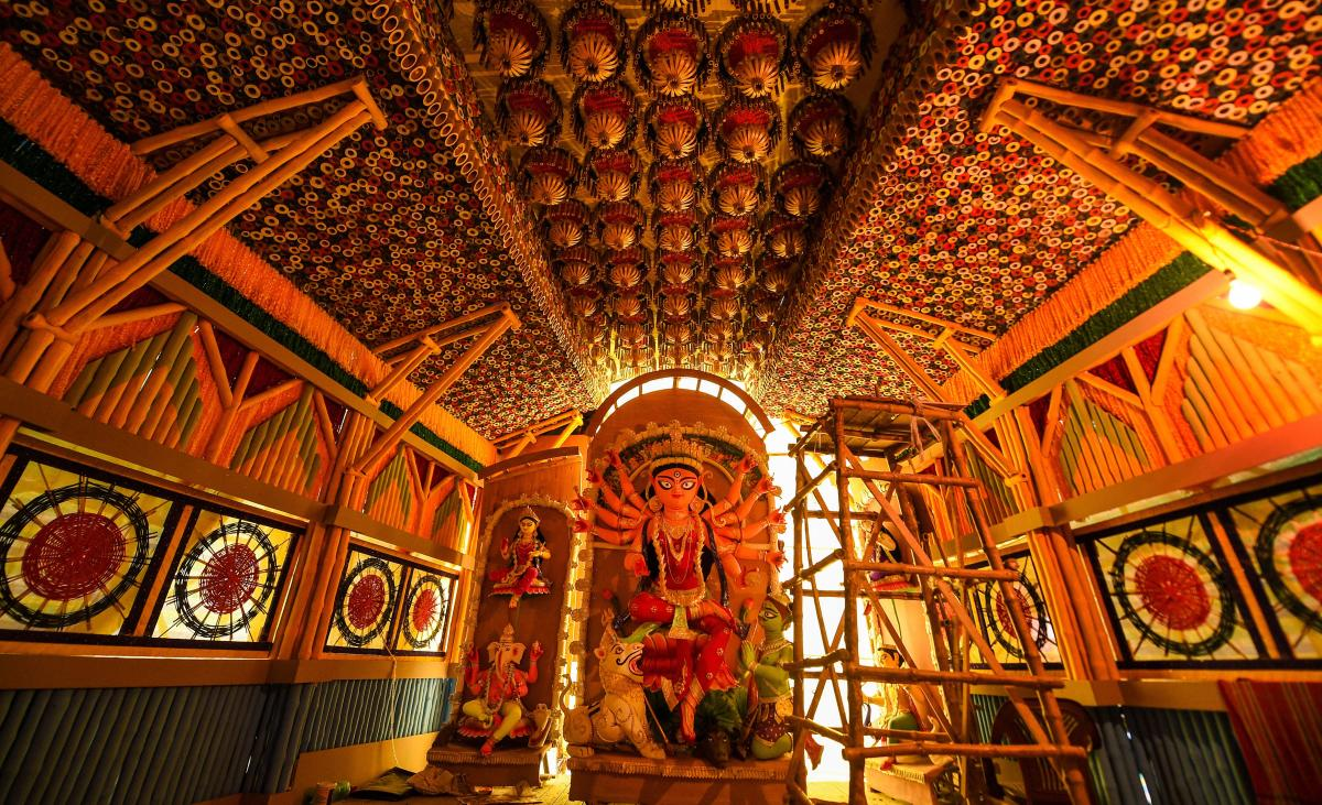 Here are some themed Durga Puja pandals from across India
