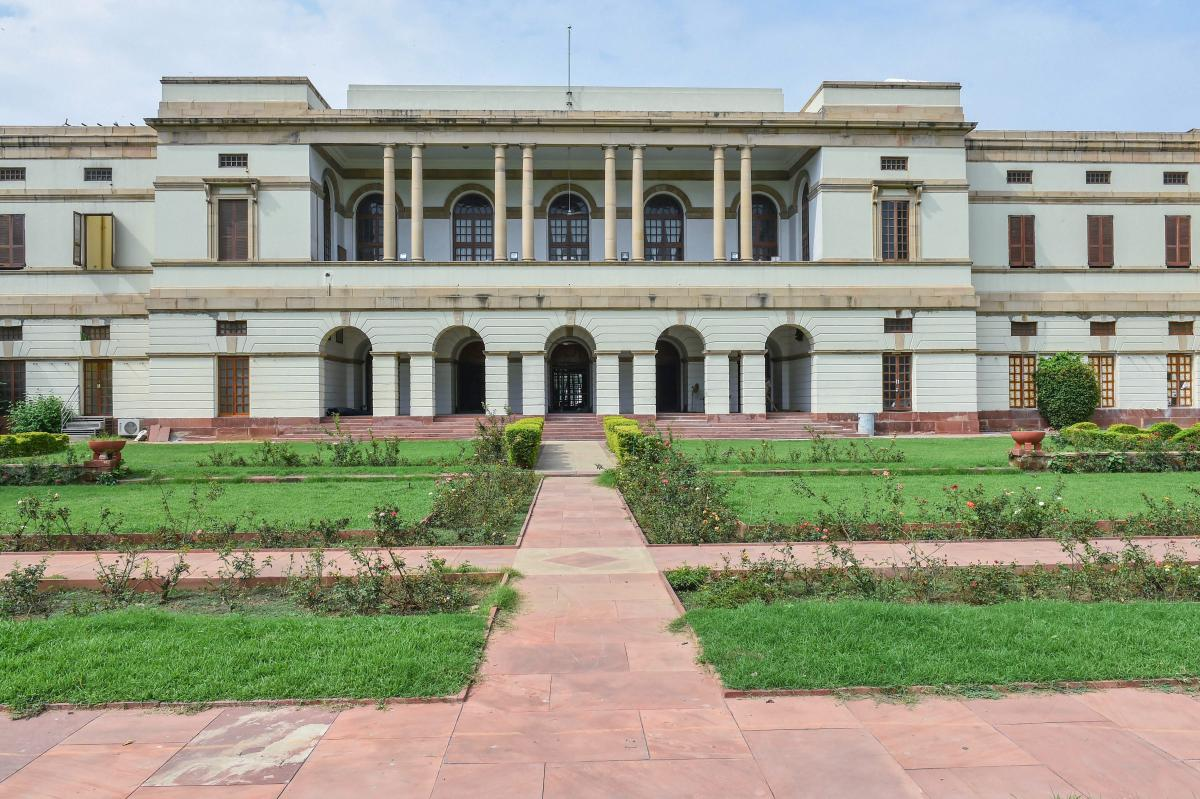 A view of the Nehru Memorial Museum and Library (NMML) in the Teen Murti complex in New Delhi. PTI