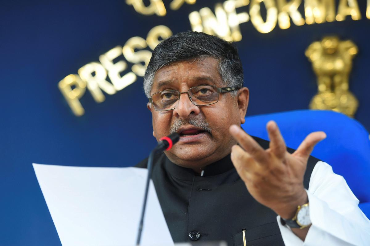 Union Minister for IT and Law and Justice Ravi Shankar Prasad addresses the media during a press briefing on the Cabinet decisions in New Delhi. (PTI Photo)