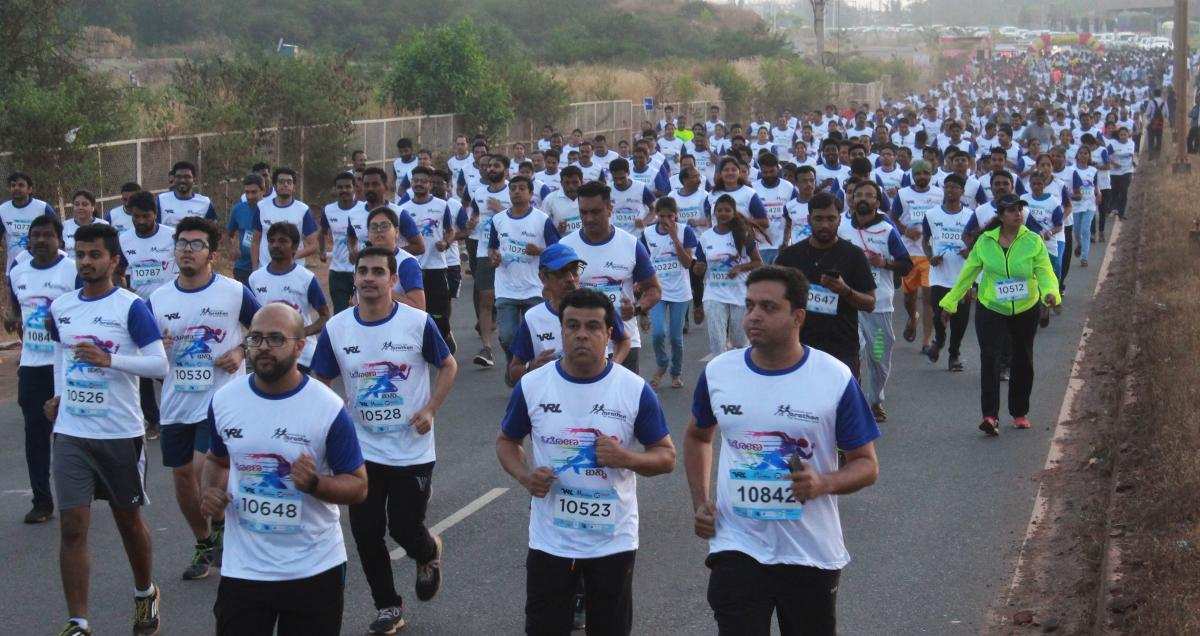 More than 10,000 people, including the differently-abled, took part in the Bengaluru Midnight Marathon on Saturday. File photo