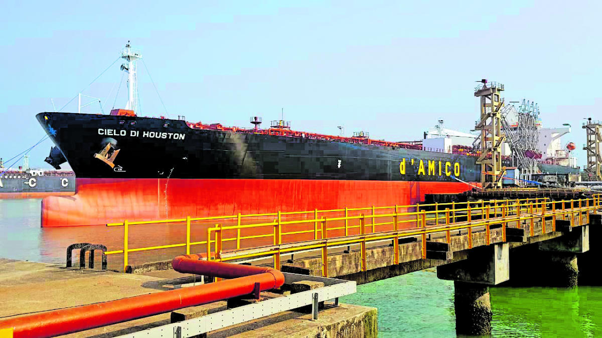 Vessel MT Cielo Di Houston loaded with 65,000 tonnes of high speed diesel.