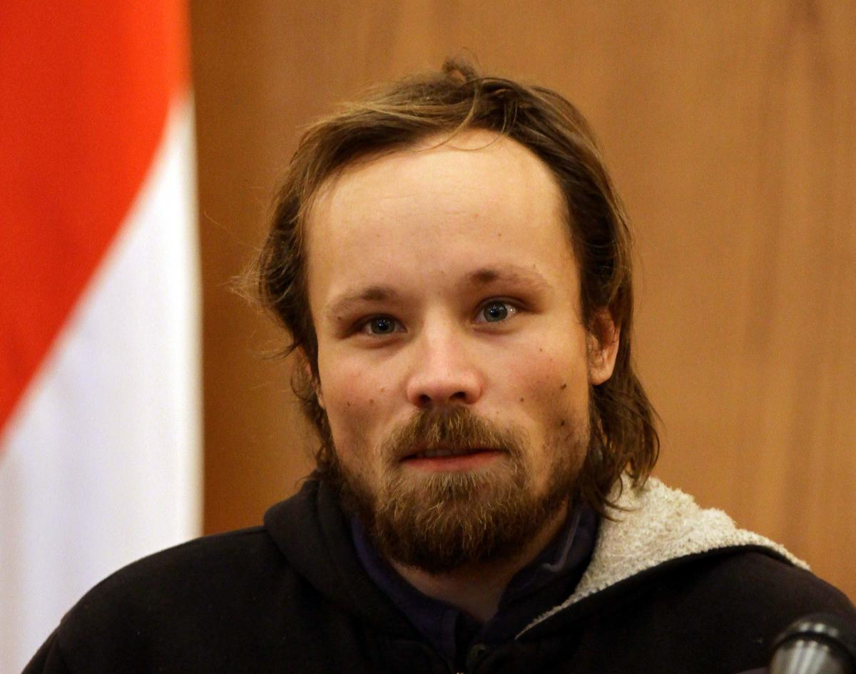 In this file picture taken on March 5, 2013 German independent journalist Billy Six, whose employers said had been out of contact for almost four months, is pictured during a press conference in Damascus were he was handed over to the Russian embassy by S
