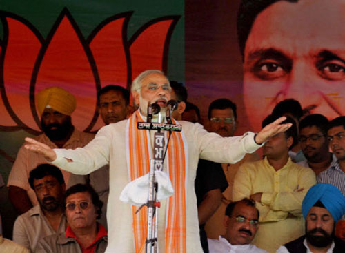 BJP compares Modi with Mahatma