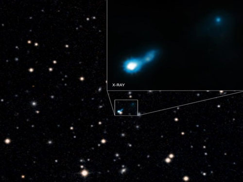 Black hole spotted in glow of the Big Bang