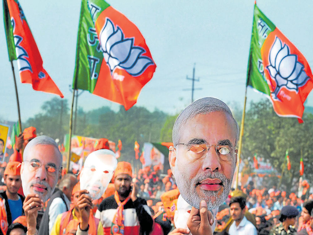 BJP leaders credit 'Modi wave' for strong showing in UP