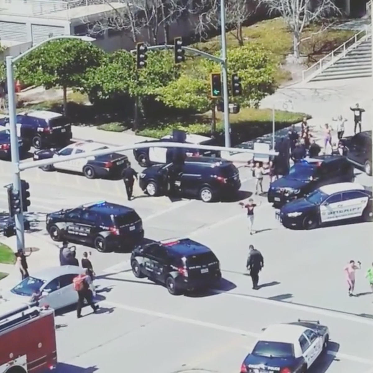 Police respond to reports of shooting at California YouTube