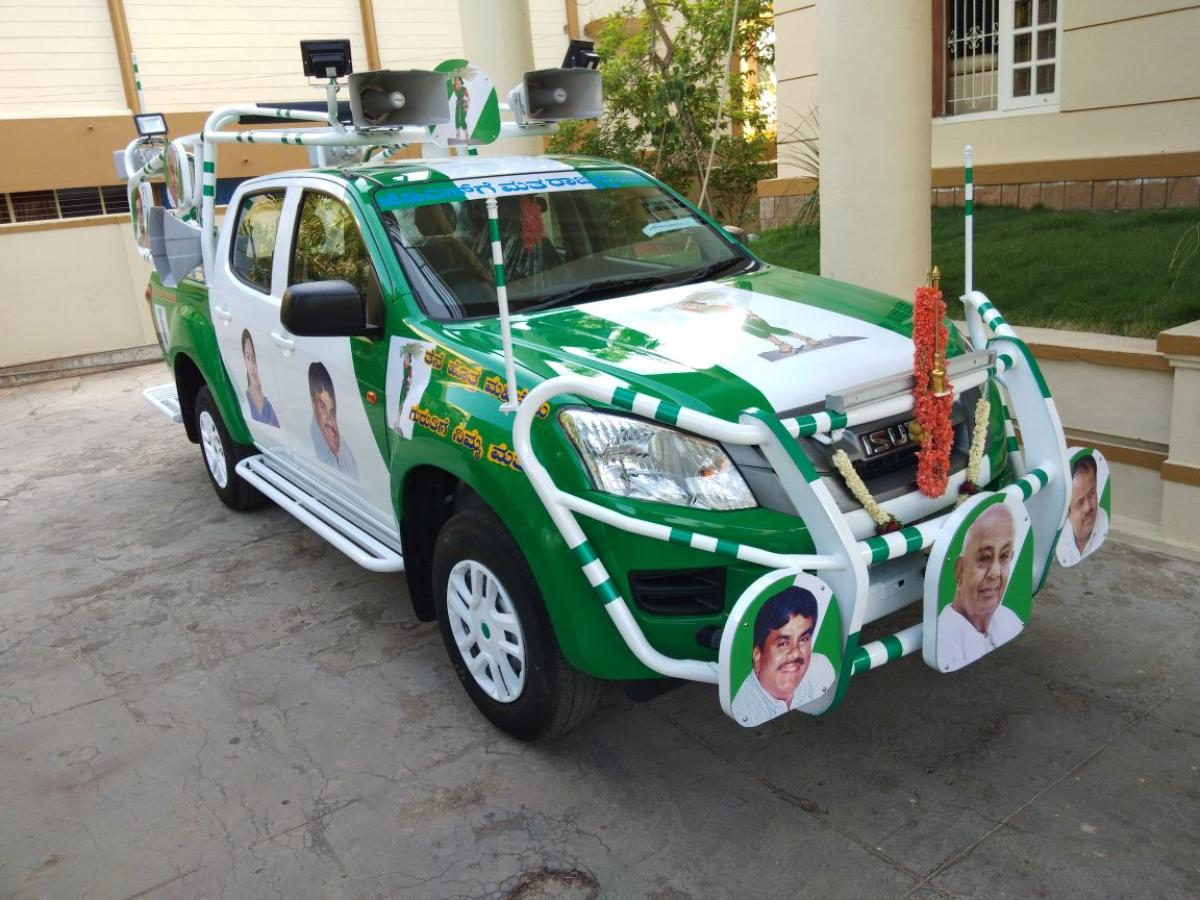 JD(S) all set for campaign with new altered car