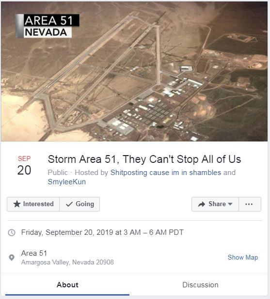 Area 51 Raid Event Goes Viral On Facebook Deccan Herald
