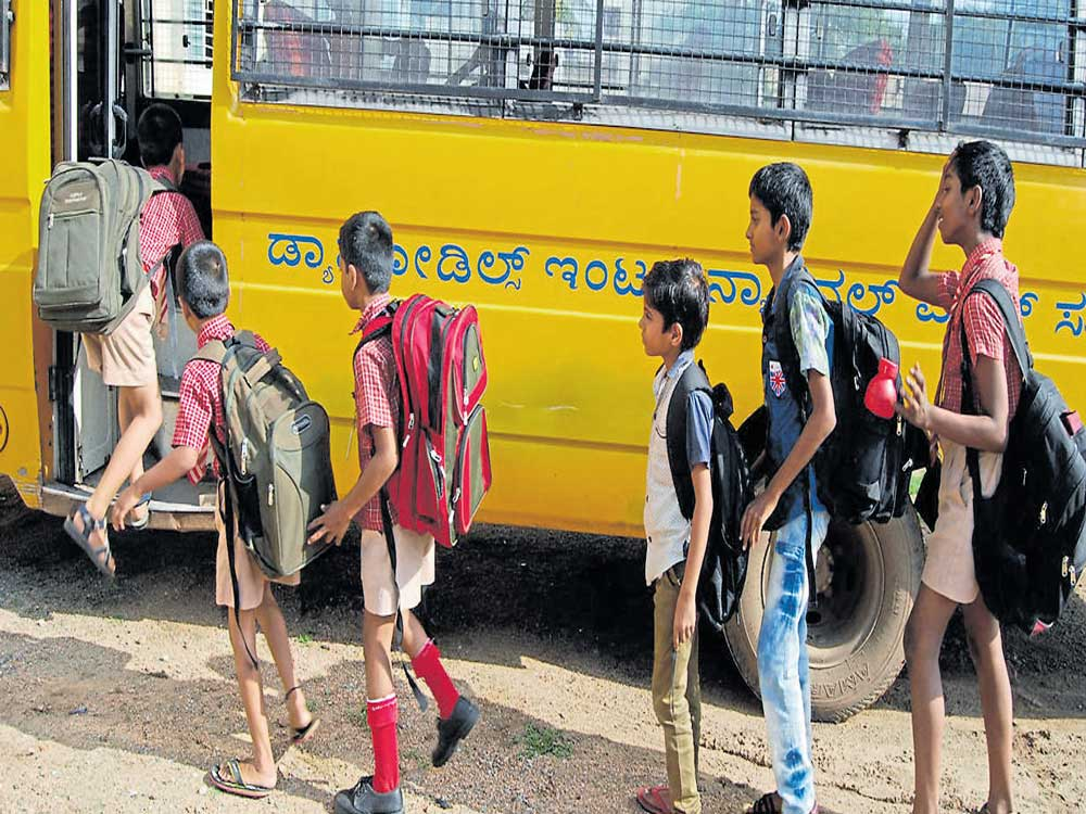 The study also proposes measures to ensure the safety of commuters, particularly children, on the Indian roads. File photo
