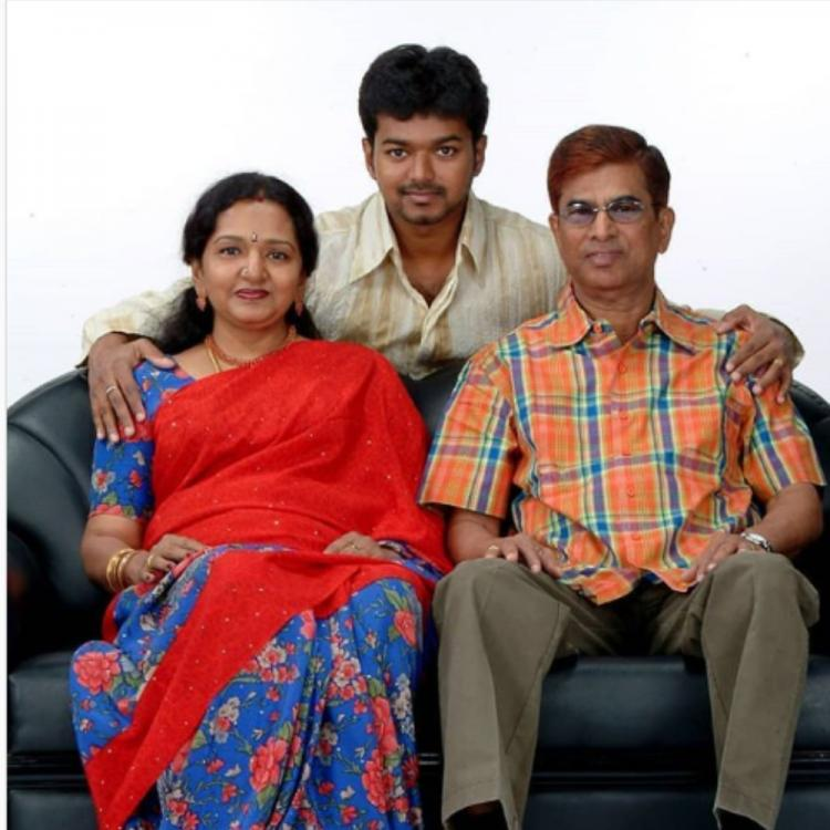 Throwback photo of Vijay with his parents goes viral   Deccan Herald