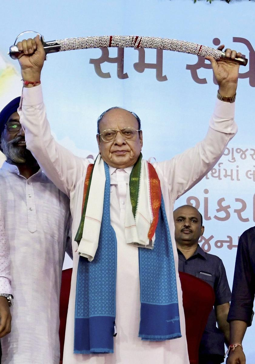 Shankarsinh Vaghela, popularly known as Bapu in the state politics, has been at the forefront of two major political parties, the ruling Bharatiya Janata Party and the Opposition Congress. PTI file photo