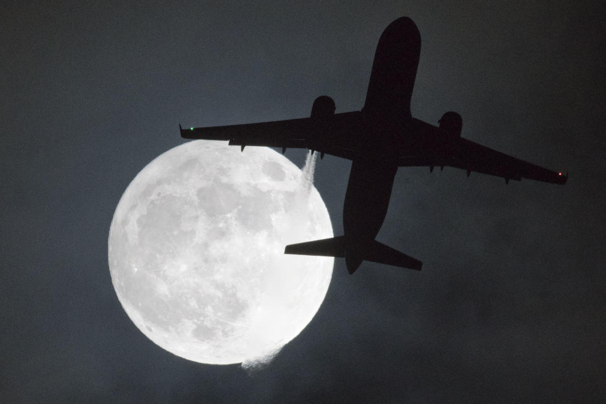 Supermoon - a photo for representation.
