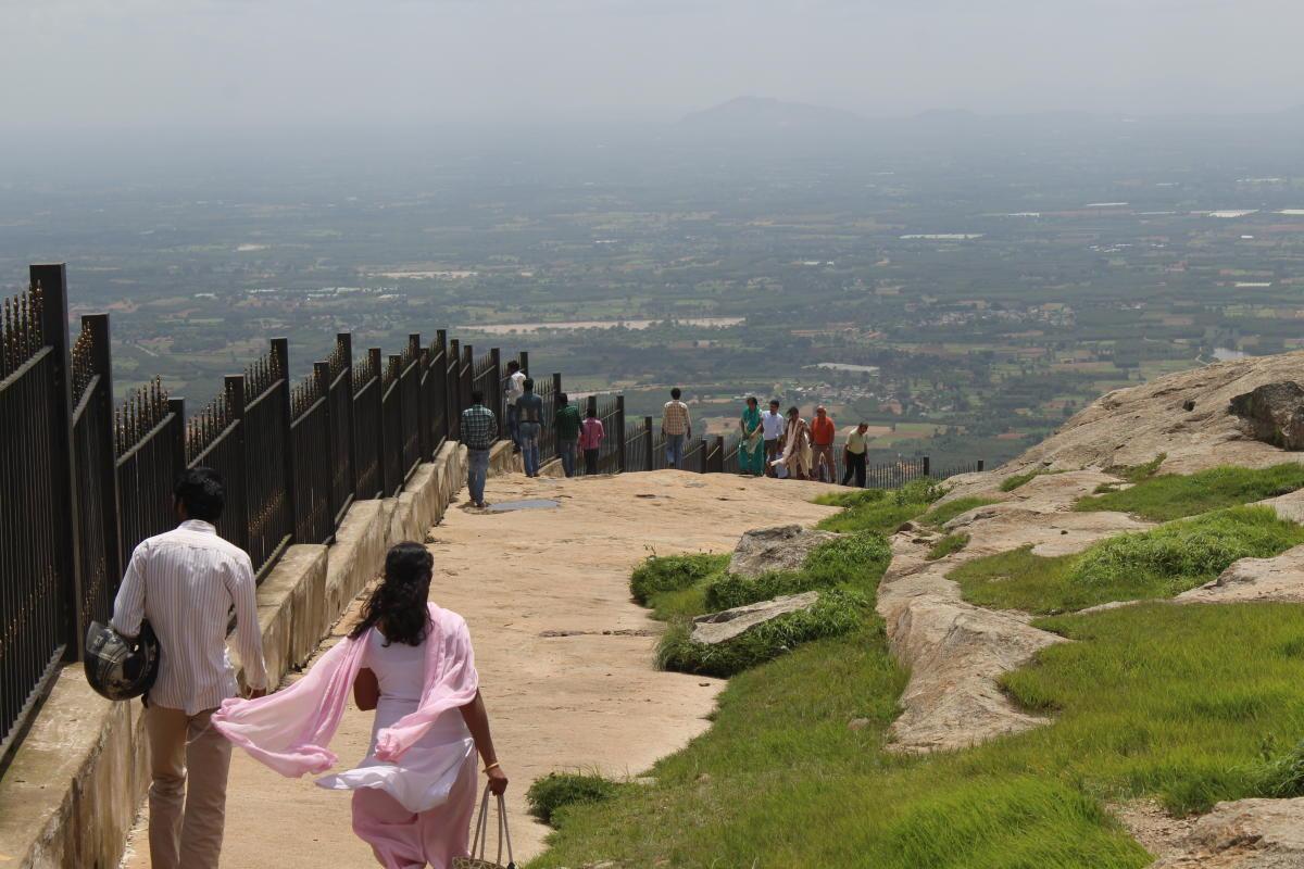 A path at Nandi Hills, 61 km from Bengaluru.