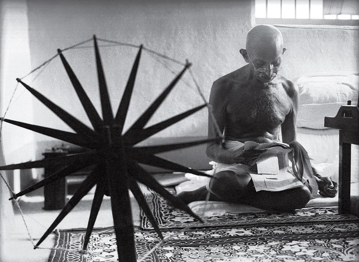 Margaret Bourke White Gandhi Spinning Wheel