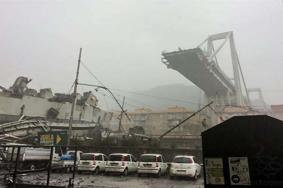 Italian media reported that there were deaths, but Maria Luisa Catalano, a police official in Genoa, said that authorities were still involved in rescue efforts and did not yet know the number of victims or injured. AFP Photo