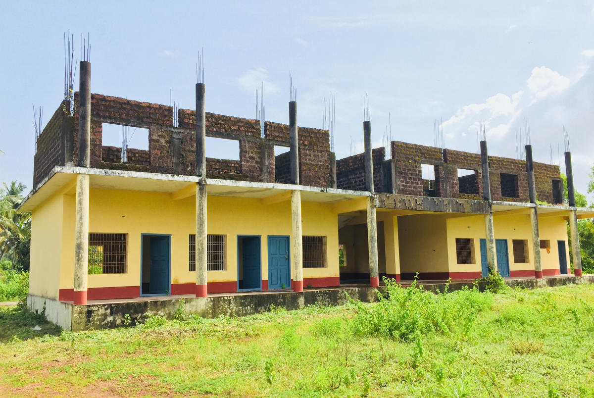 The construction work of Government PU College at Yermal Bada in Padubidri is in a limbo.