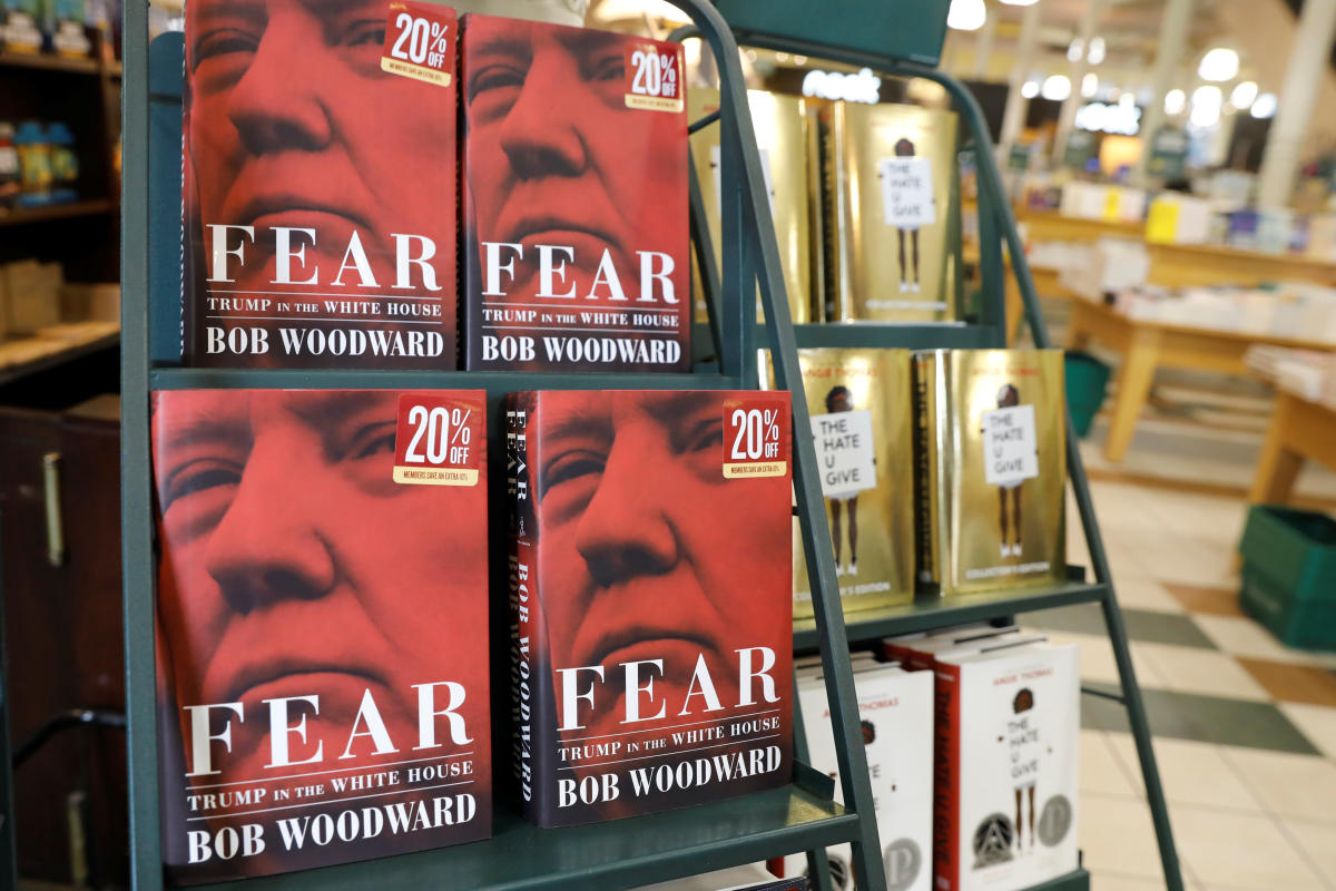 Woodward's book 'Fear: Trump in the White House' has caused controversy as it reportedly portrays Trump as chaotic, mercurial and uninformed. (Reuters Photo)