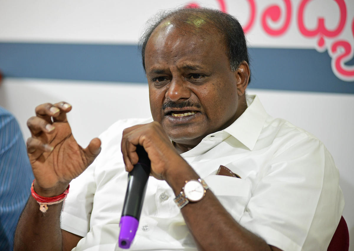 Karnataka Chief Minister H D Kumaraswamy. DH photo.