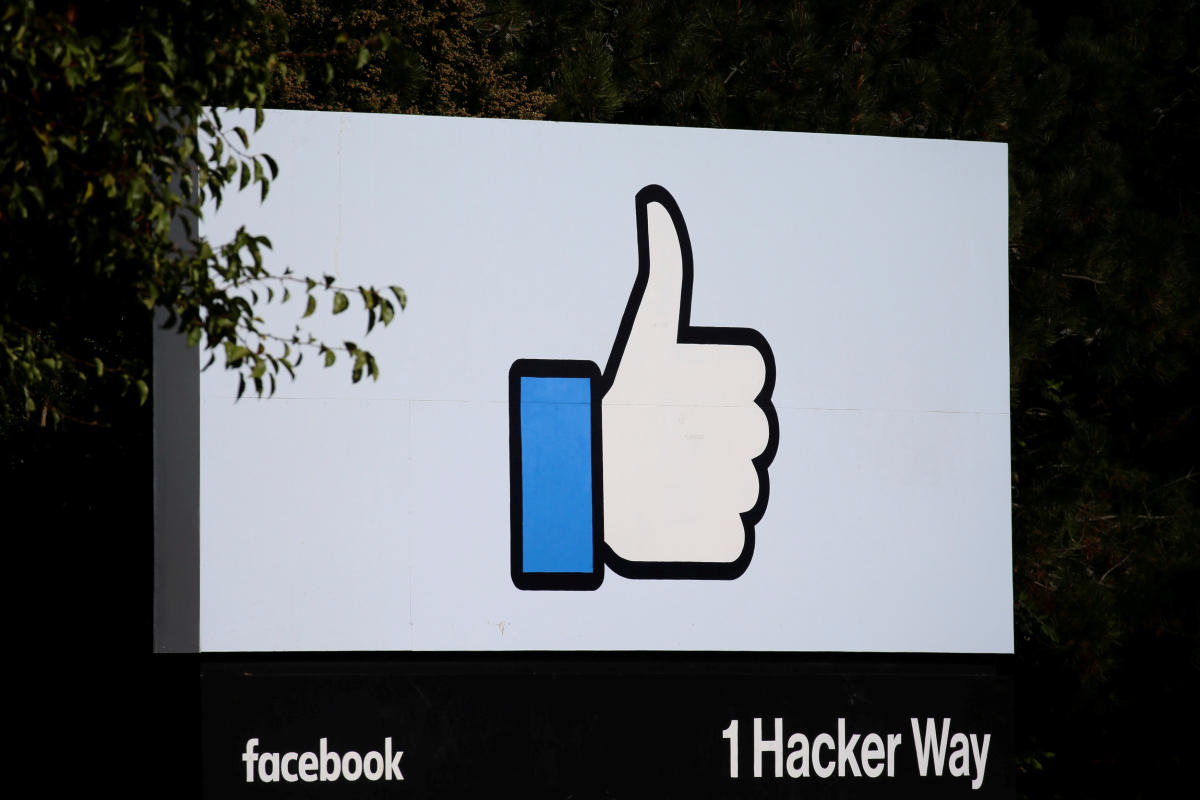 The entrance sign to Facebook headquarters is seen in Menlo Park, California, on Wednesday, October 10, 2018. (REUTERS File Photo)