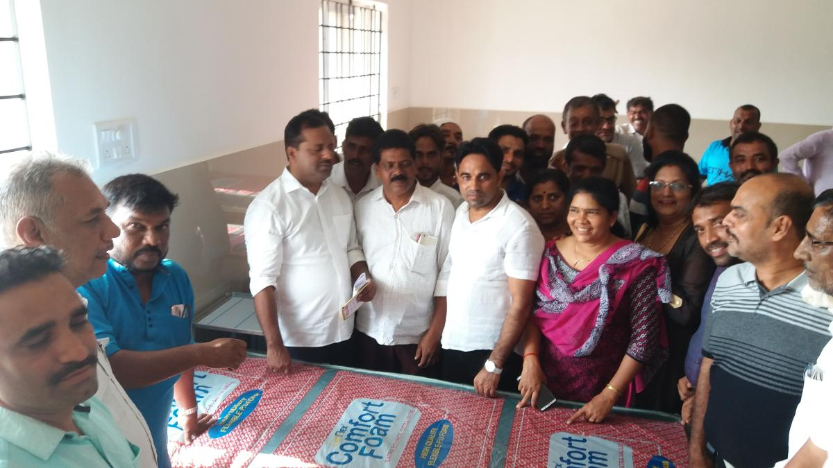 District In-charge Minister U T Khader inspects the work at the upgraded Community Health Centre at Ullal.
