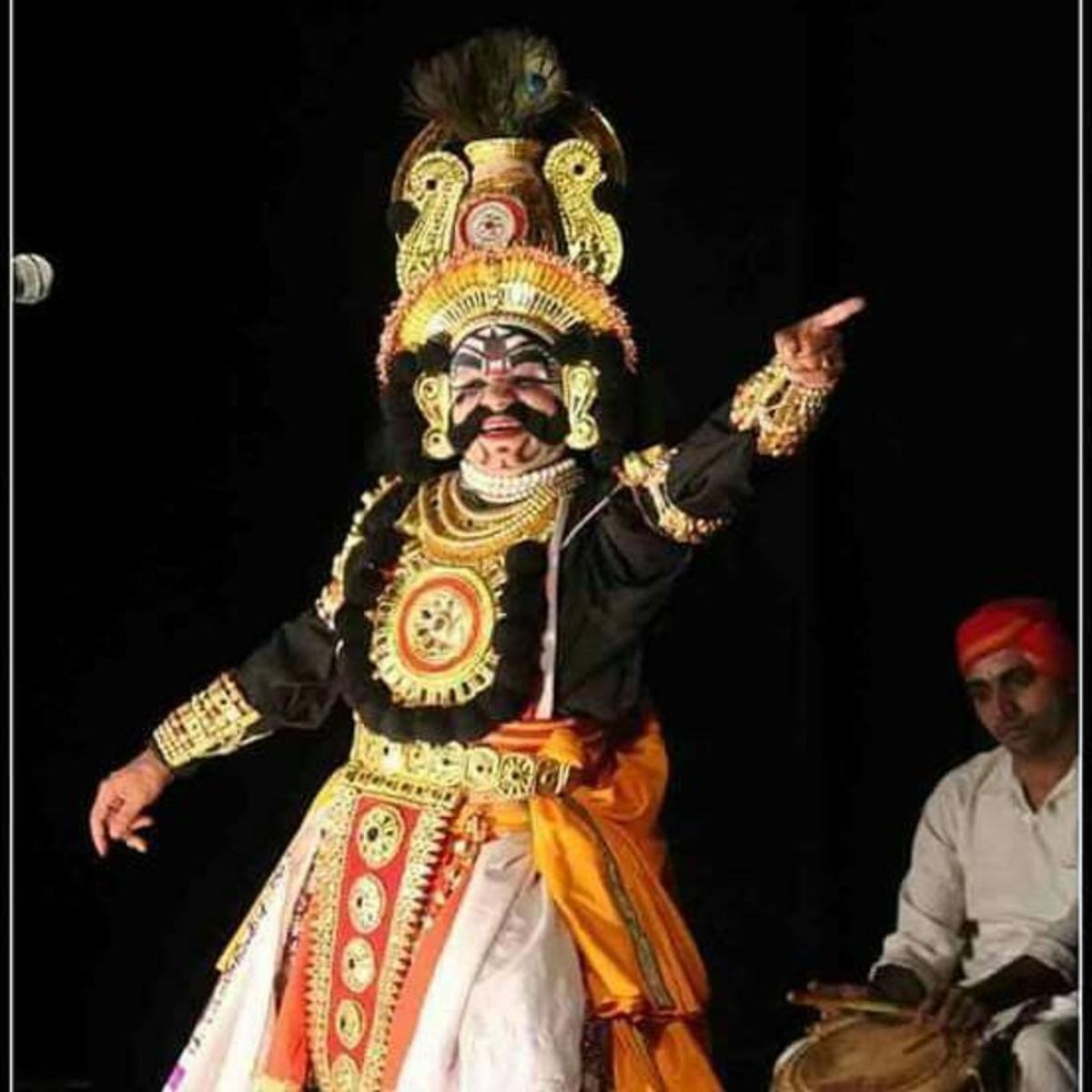 A file photo of a Yakshagana artiste in performance.